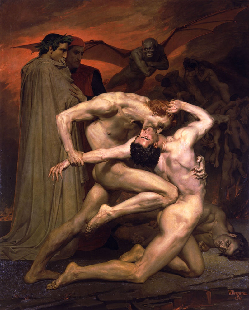 800px-William-Adolphe_Bouguereau_(1825-1905)_-_Dante_And_Virgil_In_Hell_(1850)